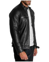 Arma Leather Biker Jacket Negro