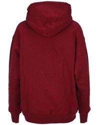Victoria Beckham Embroidered logo hoodie Marrón