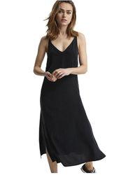Denham Monica Slip Jurk - 02190214181-black - Zwart
