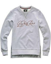 G-Star RAW Raw Graphic 22 Bf Slit R Sweat Sweaters - Grijs