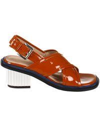 Plan C Sandalo Incrociato - Arancione