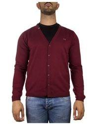 Sun68 Sweater V Neck - Rosso