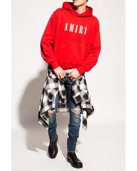 Amiri Logo hoodie Rojo - Azul