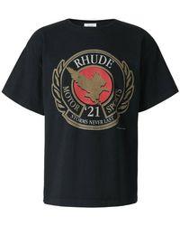 Rhude Printed Logo T-shirt - Zwart