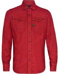 G-Star RAW Slim Shirt - Rood