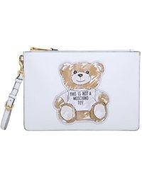 Moschino Pochette Teddy - Wit
