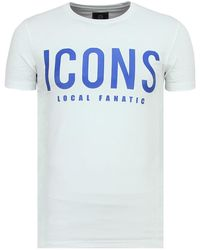 Local Fanatic Icons Coole T Shirt Heren - Wit