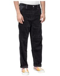 Carhartt WIP Ribbed and Velvet Trousers - Nero