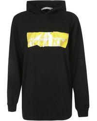 Alexander Wang Long Sleevehoodie Sweatshirt - Noir