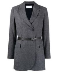 Fabiana Filippi Long Sleeve Belted Blazer - Grijs