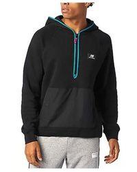 New Balance - Sweatshirt Mt03531 BK - Lyst