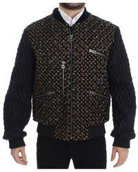 Dolce & Gabbana Sequined Goatskin Jacket - Bruin