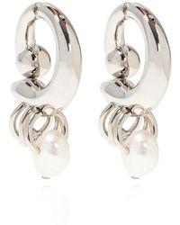 Acne Studios Pearl earrings - Gris