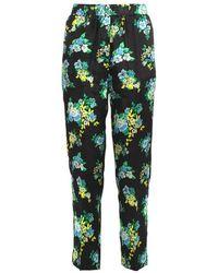 Jucca Pantalone stampa floreale J3314025-003 - Schwarz