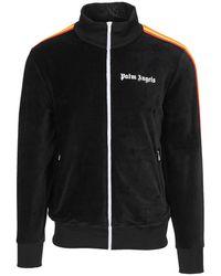 Palm Angels Rainbow chenille track jacket - Negro