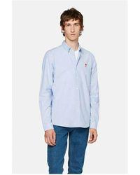 AMI Camisa AMI DE Coeur Oxford Azul