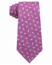 Michael Kors Neck Tie P Skinny Pine Paisley Silk - Pink