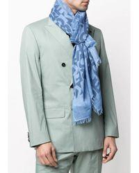 Karl Lagerfeld Logo print scarf Azul