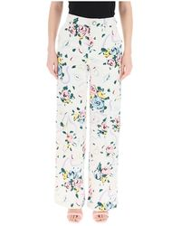 Alessandra Rich Floral print jeans - Blanc