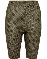 Gestuz Pilo MW printed short tights - Marron