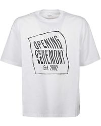 Opening Ceremony - T-shirt Warped Logo Regular - Lyst