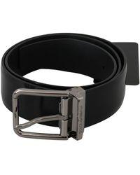 Dolce & Gabbana Leather Belt - Zwart