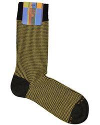 Gallo Houndstooth Socks - Geel