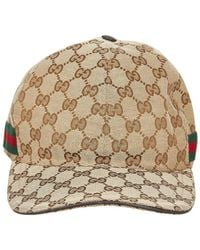 Gucci GG Canvas Web-baseballpet - Bruin