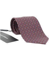 Dolce & Gabbana Silk Patterned Tie - Rood