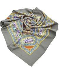 Hermès Qalamdan Silk Scarf - Grigio