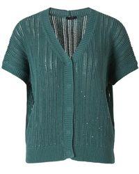 Peserico Sequin Knit Cardigan - Verde