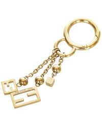 Fendi Vintage Gold-tone Key Chain - Geel