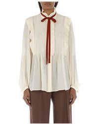 Chloé Camicia Ruches E Fiocco shirt - Neutro