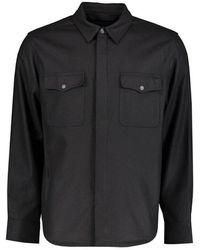 Rag & Bone Overshirt Zip - Zwart