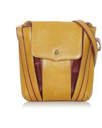 Cartier Tweedehands Must De Lederen Rugzak - Geel