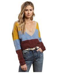 For Love & Lemons Sweater - Blauw