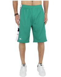 Kappa Interlock Bermuda Shorts - Groen