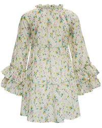 Anjuna Floral Dress Beige - Neutro