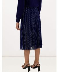 Philosophy Di Lorenzo Serafini Polka dot print pleated skirt Azul