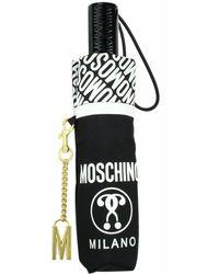 Moschino Ombrello retraibile open / close O22Mo03 8872 Negro