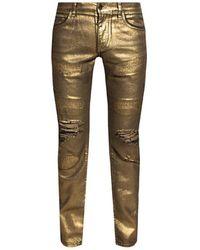 Dolce & Gabbana Distressed jeans - Gelb