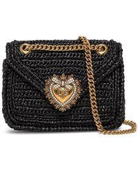 Dolce & Gabbana Weave Devotion Crossbody Bag - Zwart