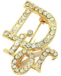 Dior Tweedehands Broche - Geel