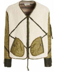 Greg Lauren Cm015ivoryarmy jacket - Vert