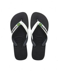 Havaianas Brasil Mix Flip Flops - Zwart