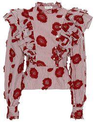 Custommade• Dafina blouse - Rojo