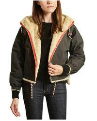 Bellerose Loud canvas and faux-fur hooded reversible jacket - Grün