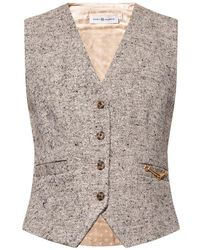 Tory Burch Vest with silk back - Grau