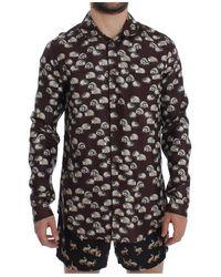 Dolce & Gabbana Silk Pajama Shirt Sleepwear - Zwart
