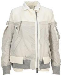 Sacai Outerwear 2105549n - Grijs